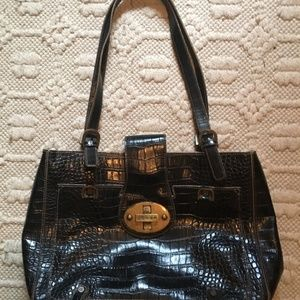 Guess Faux Alligator Leather Shoulder Bag Purse